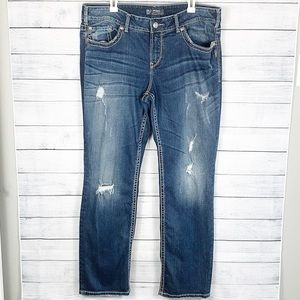 Silver Jeans Berkley Straight Leg Dark Wash